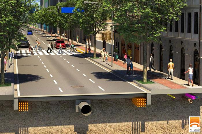 Resultado de imagem para obras urbanização - ruas, praças e calçadas